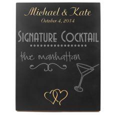Custom Double Heart Wedding Chalkboard Sign