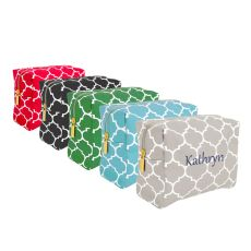 Personalized Green Moroccan Lattice Cosmetic Bag