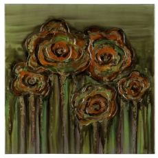 Abstract Poppies Hand Painted Canvas Wall Art