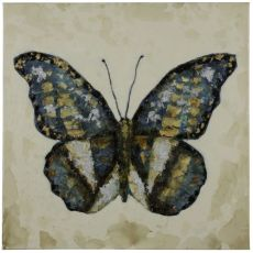 Shimmering Butterfly Hand Painted Canvas Wall Art