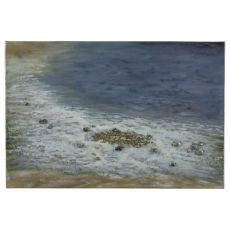 Pebbled Beach Hand Painted Canvas Wall Art