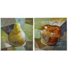 Fresh Fruit I- Set of 2 Hand Painted Canvas Wall Art