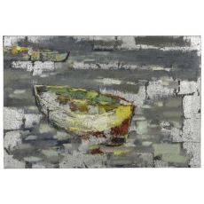 Boat II Hand Painted Canvas Wall Art