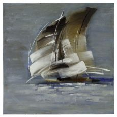 Sail Boat I Hand Painted Canvas Wall Art