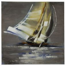 Sail Boat II Hand Painted Canvas Wall Art