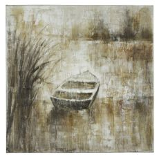 Into the Pond Hand Painted Canvas Wall Art