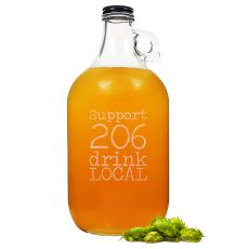 Personalized 64 Oz. Drink Local Craft Beer Growler