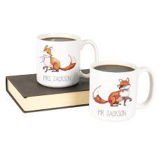 Personalized 20 Oz. Fox Large Coffee Mugs (Set Of 2)