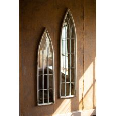 Tall Metal Painted Iron Church Mirrors, Set of 2