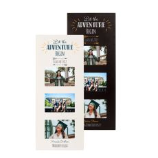 Personalized Graduation Multi Photo Frame, White