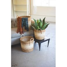 Round Baskets - Toned Natural, Set of 3