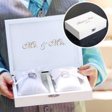 White Ring Bearer Pillow Box