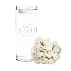 Personalized Wedding Monogram Floating Unity Candle