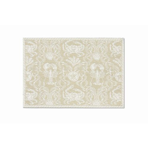 Crab Damask 14X20 Placemat