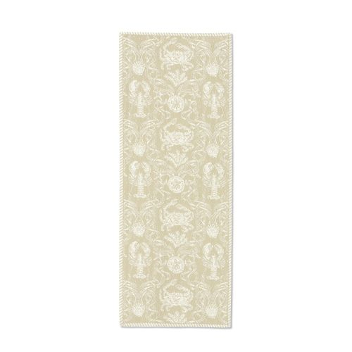Crab Damask 14X36 Table Runner