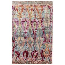 Contemporary Vintage Look Pattern Blue/Pink Polyester Area Rug ( 9X12)