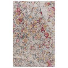 Contemporary Vintage Look Pattern Pink/Brown Polypropylene Area Rug ( 7.8X10)