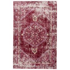 Contemporary Vintage Look Pattern Red/Pink Polypropylene Area Rug ( 7.8X10)