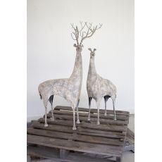 Metal Deer, Set of 2