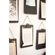 Black Clip Board Photo Of Notes Holder  Set of 6 Set of 6