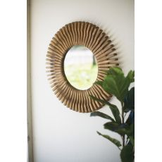 Round Wooden Mirror