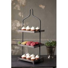 Metal Three Tiered Display