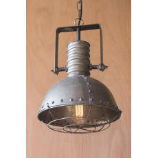 Metal Warehouse Pendant With Cage