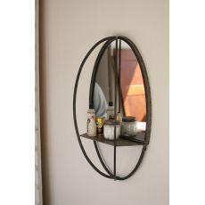 Oval Mirror With Wall Shelf