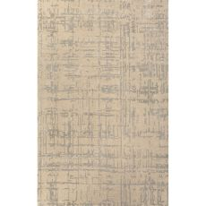Contemporary Abstract Pattern Taupe/Gray Wool And Art Silk Area Rug (9X12)
