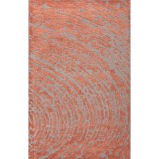 Contemporary Abstract Pattern Red/Gray Wool And Art Silk Area Rug (9X12)