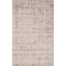 Contemporary Abstract Pattern Gray Wool And Art Silk Area Rug (9X12)