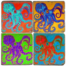 Octopus Italian Marble Coasters