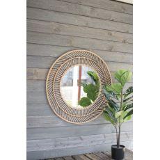 Round Bamboo Mirror