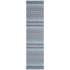 """Liora Manne Cosmos Gypsy Stripe Indoor/Outdoor Rug Blue 24""""X8'"""