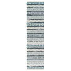 "Liora Manne Cosmos Gypsy Stripe Indoor/Outdoor Rug Grey 24""X8'"
