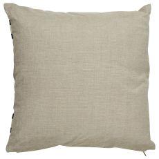 "Modern/Contemporary Pattern Taupe/Black Linen Down Fill Pillow ( 18""X18"")"