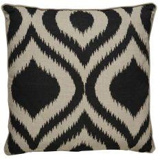 "Modern/Contemporary Pattern Taupe/Black Linen Down Fill Pillow ( 22""X22"")"