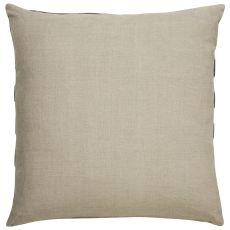 "Geometric Pattern Taupe/Gray Linen Down Fill Pillow ( 22""X22"")"