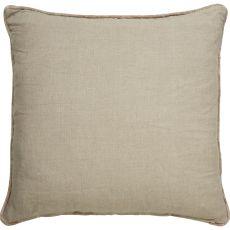 "Geometric Pattern Taupe/Tan Linen Down Fill Pillow ( 22""X22"")"