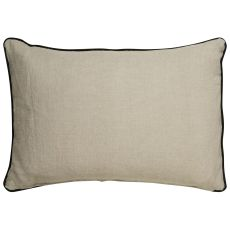 "Modern/Contemporary Pattern Black/Taupe Linen Down Fill Pillow ( 16""X24"")"