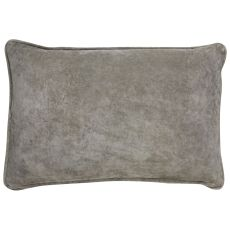 "Geometric Pattern Ivory/Gray Polyester Down Fill Pillow ( 16""X24"")"