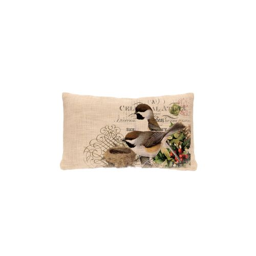 Winter Garden Chickadees Pillow