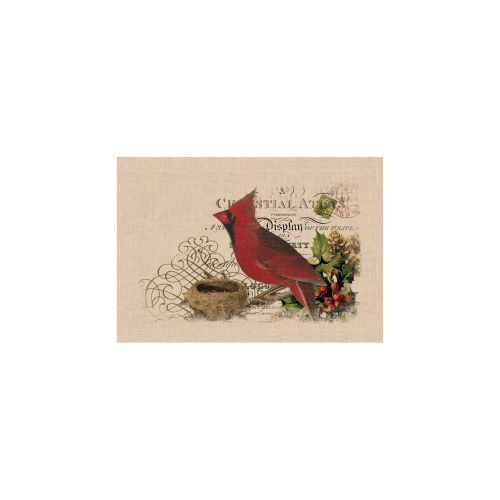 Winter Garden Cardinal Placemat