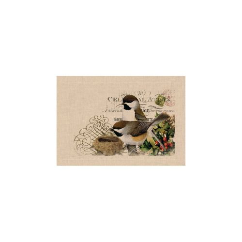 Winter Garden Chickadees Placemat