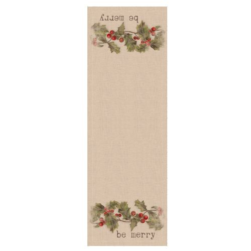 Holly-Be Merry 16X48 Table Runner
