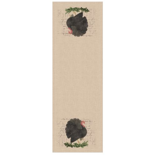 Thanksgiving Turkey 16X48 Table Runner