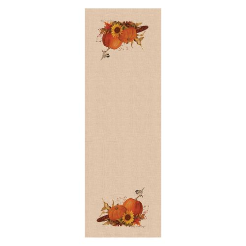 Harvest Pumpkin 16X48 Table Runner