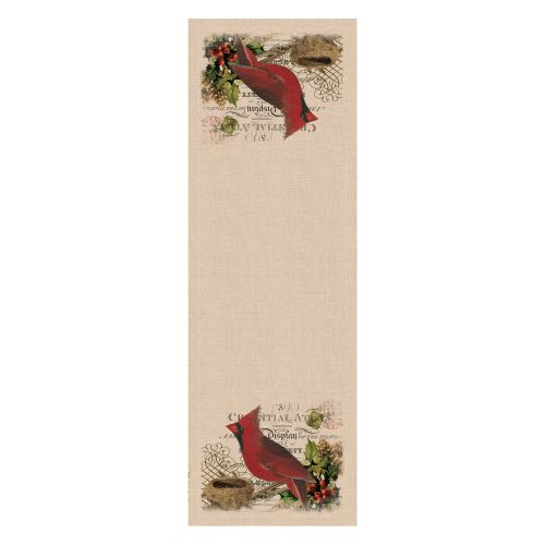 Winter Garden Cardinal Table Runner