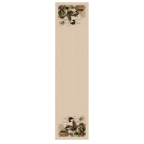 Winter Garden Chickadees Table Runner