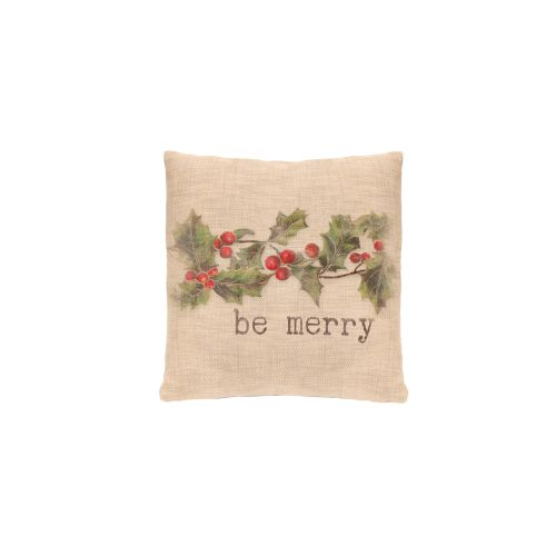 Holly-Be Merry 18X18 Pillow